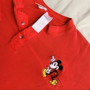 Vintage Mickey Mouse Logo red 100% cotton shirt